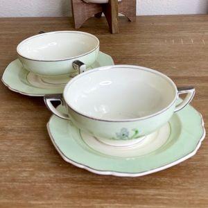 VTG Grindley Windsor Ivory England Teacup Set